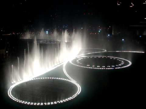 The Dubai Fountain - Time to Say Goodbye (High Quality) by Andrea Bocelli & Sarah Brightman