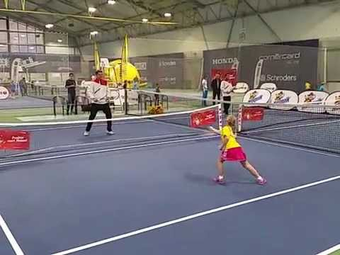 Ewa (*2009 / POL) - Forhand 3.0 with ITF Red Ball - Biel/Switzerland - (C) November 2015 by Dr.MGB