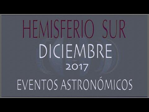 EFEMERIDES ASTRONOMICAS DICIEMBRE 2017. HEMISFERIO SUR
