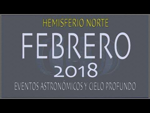 CIELO DE FEBRERO 2018. HEMISFERIO NORTE
