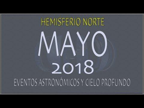 CIELO DE MAYO 2018. HEMISFERIO NORTE