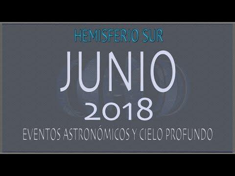 CIELO DE JUNIO 2018. HEMISFERIO SUR