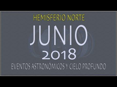 CIELO DE JUNIO 2018. HEMISFERIO NORTE