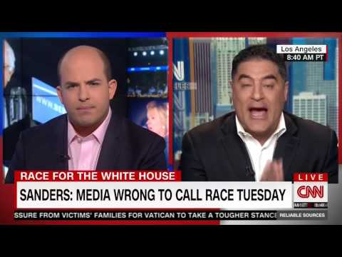 Cenk Uygur battles with CNN's Brian Stelter over superdelegate reporting