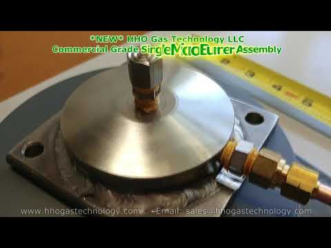 HHO Gas Technology Commercial Grade Single Micro Holes Burner Assembly 10-20-2017