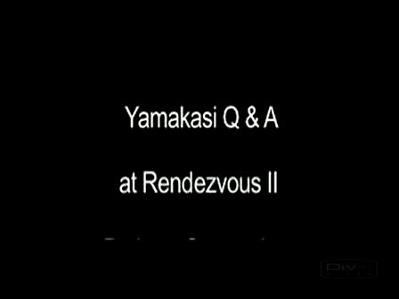 Yamakasi Q&A Rendezvous II pt 1