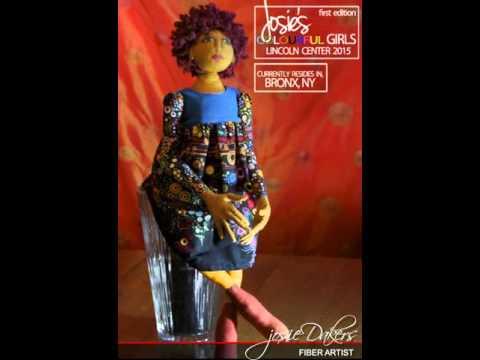 Josie's Colourful Girls  Art Dolls