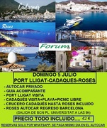 DOMINGO 5 JULIO-EXCURSION PORT LLIGAT+CADAQUES+ROSES