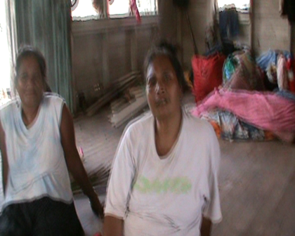 Meeting the women at Tabiang Village Rabi Island devasated Cyclone Tomas