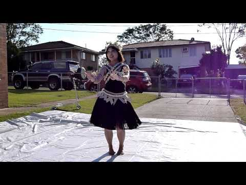 Zita Yip dancing at Banaba-Australia Association