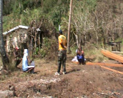 Devastation caused by Cyclone Tomas to Nasau settlement Rabi Fiji