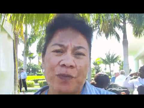 Pelenise Alofa talks about the human impact of climate change on her home in the Pacific Islands