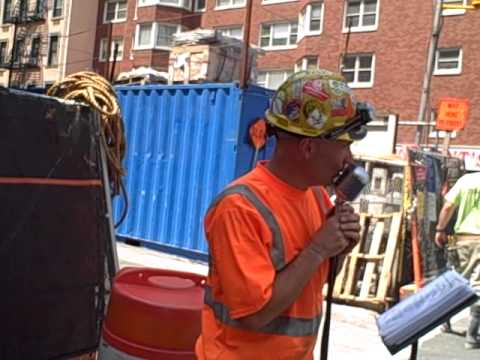 NYC 2nd ave subway construction worker, GARY RUSSO, Official, Original video