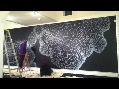 Voronoi Nebula Mural Wall Drawing