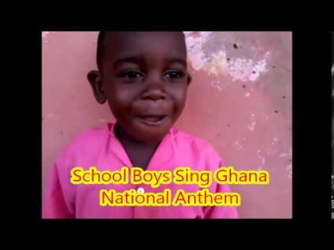 School Boys Sing Ghana National Anthem