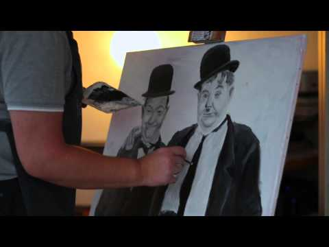 Laurel and Hardy Speed paint