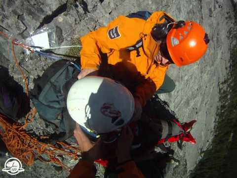 Climbing Accident and Rescue Cascade Mountain in Banff National Park