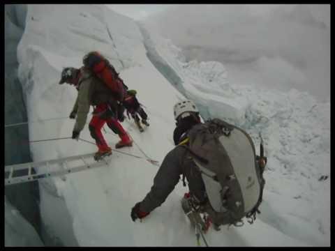 Mount Everest Khumbu ICE FALL.wmv