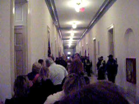 Protesters inside the Cannon Building at Nancy Pelosi's Office #235