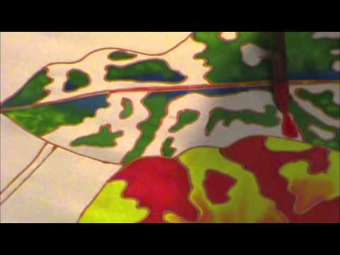 """SILK PAINTING WITH JEAN-BAPTISTE - """"SKY FIRE"""",  PART 1 OF 3"""