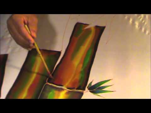 SILK PAINTING WITH JEAN-BAPTISTE - SKY FIRE, PART 2 of 3