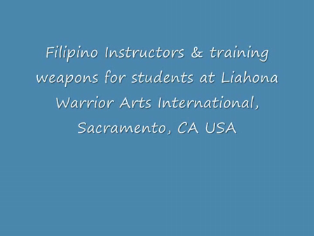 Filipino Instructors- training weapons
