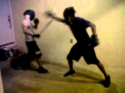 Escrima Hawaii - Middle Range Melee Single Stick Sparring Drill