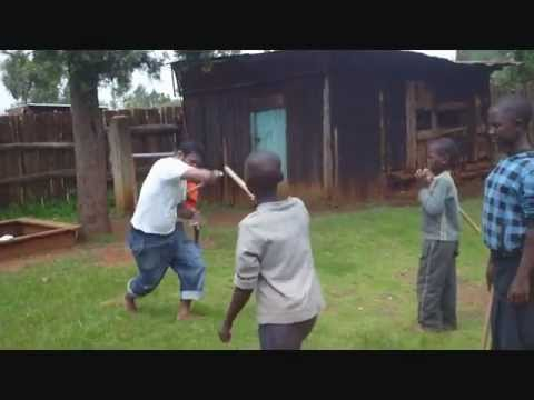 Stick Fighting Courses for Street Kids/Mums in Kenya (Berur) - Parvez Alam, FIGHTING FOR LIVES