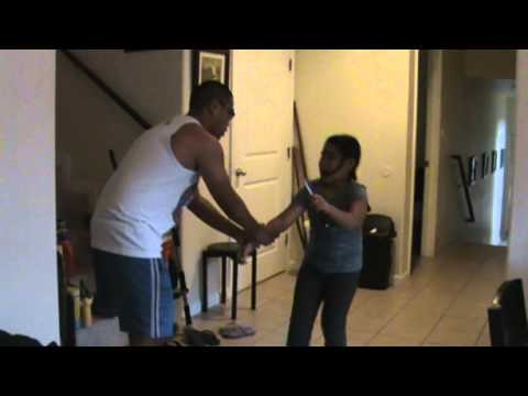 Kids Knife Fighting Drill - Preperation Against Human Violence