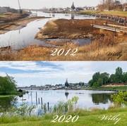 Bayou water level change in 8 years