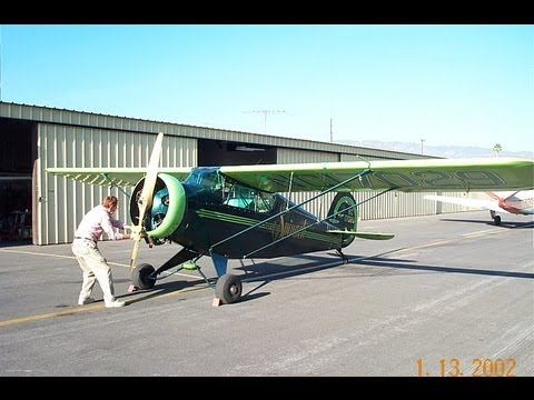 """1936 Porterfield 35-70 Flyabout """"Spinach"""" Whiteman Airport Los Angeles, California 2002"""