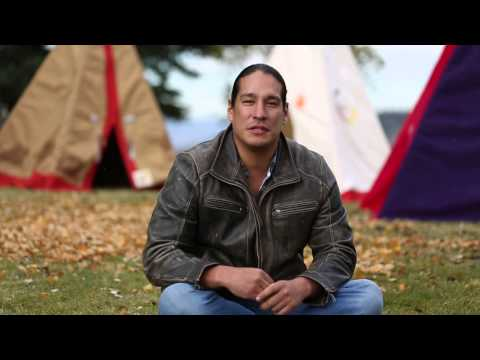 Micheal Spears telling story about the tipi.