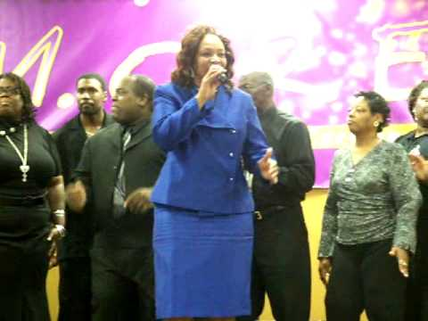 "Lady Voncole Belcher sings ""YES!"""