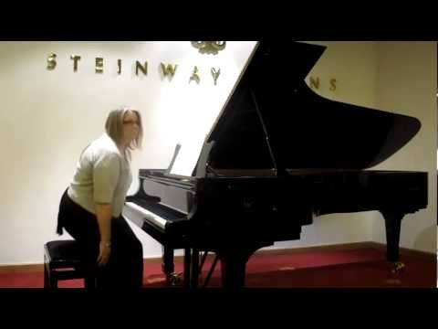 Frances playing Bach - Adagio from Concerto in D minor after Marcello BWV974