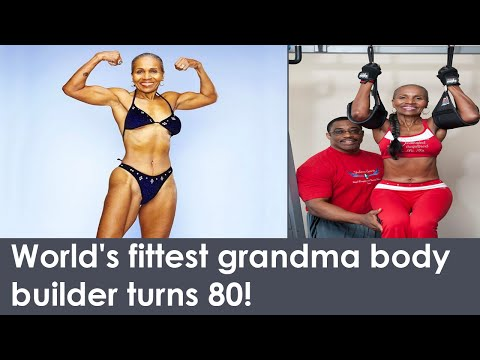 World's fittest grandma body builder turns 80!