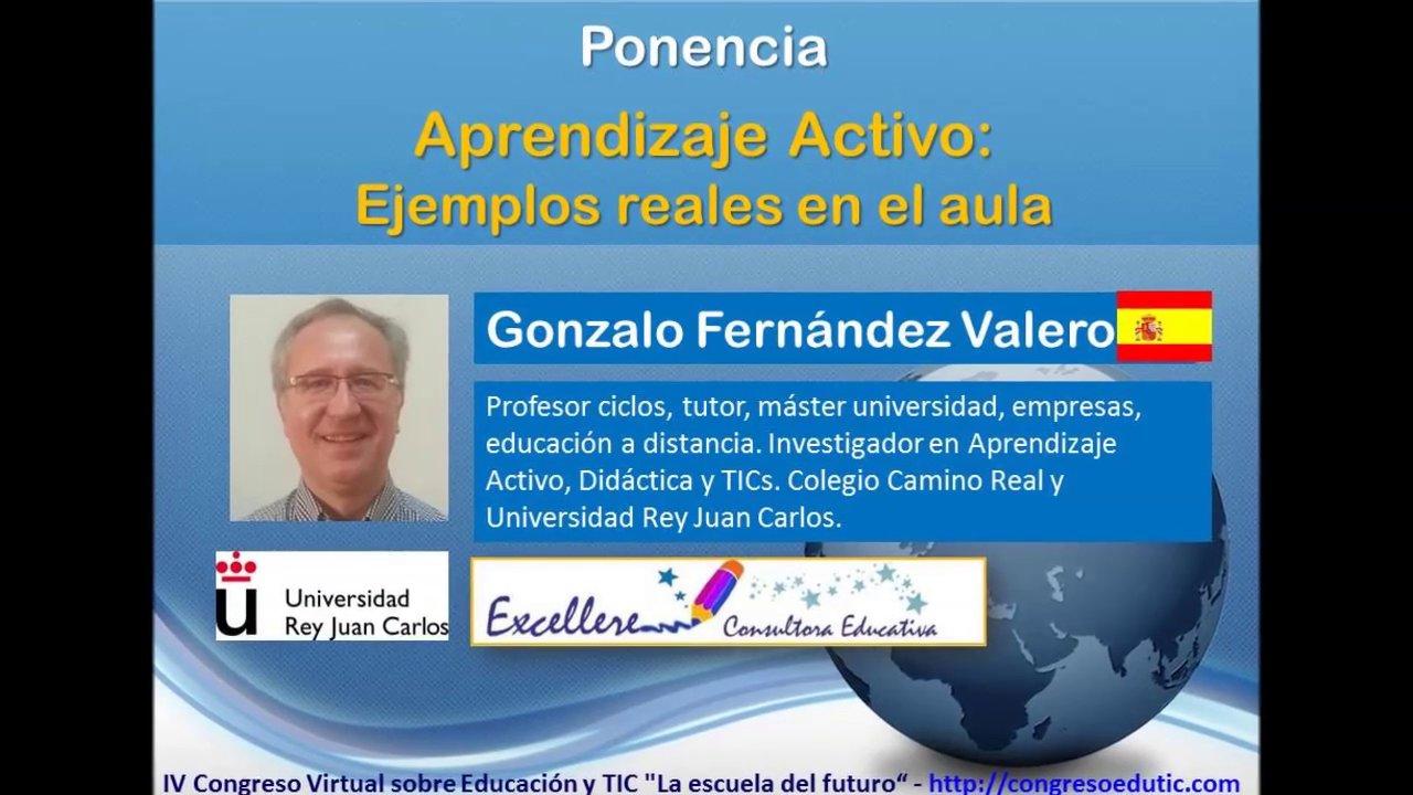 Ponencia de Gonzalo Fernández Valero: Aprendizaje Activo.