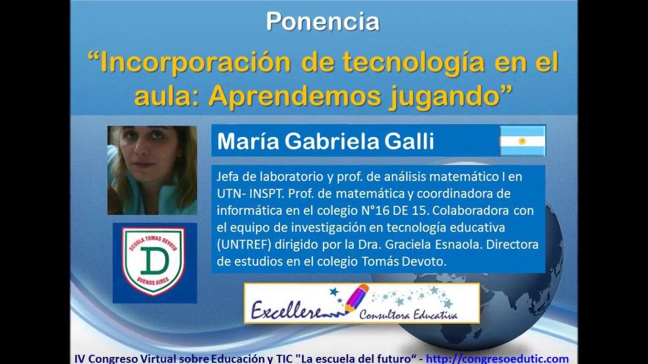 Ponencia de María Gabriela Galli