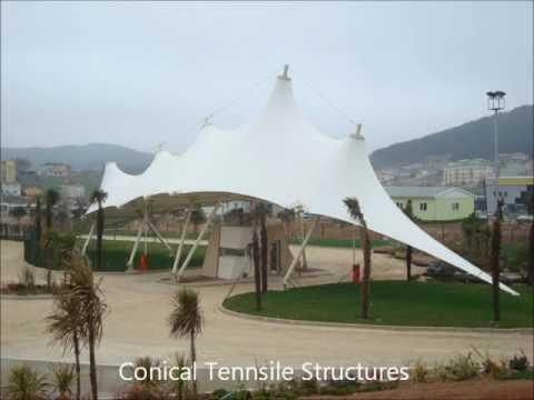 gazebo tensile structures, indoor outdoor shade structures, tensile membrane structures