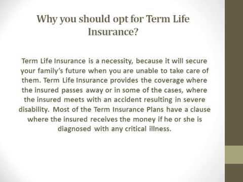 Is Term Insurance A Smart Investment