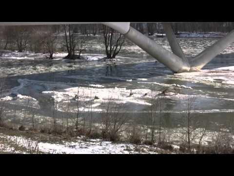 La Loire avec glaçons