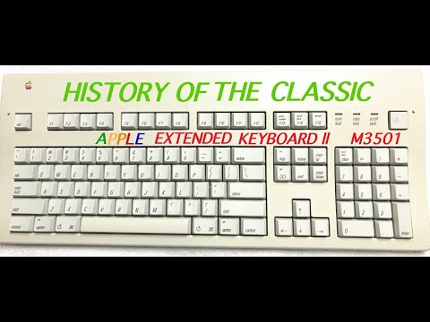 HISTORY OF THE APPLE EXTENDED KEYBOARD II Disassembly & Retro brighting DAVEs VINTAGE APPLE TECH #16