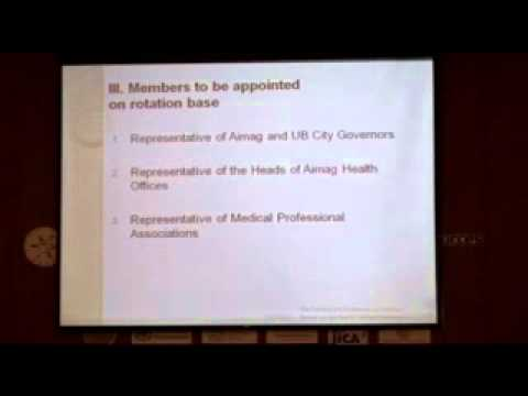 Intersectoral Coordinating Committee on Health Sector Human Resources of Mongolia Part 2