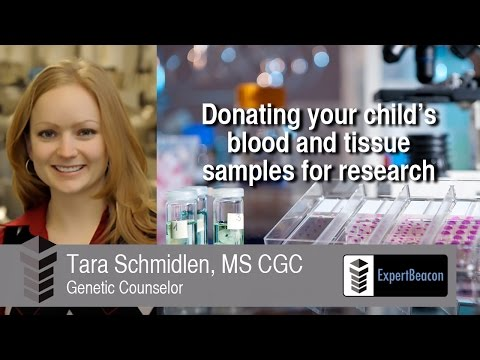 Donating your child's blood and tissue samples for research