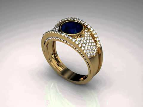 blue fly ring.