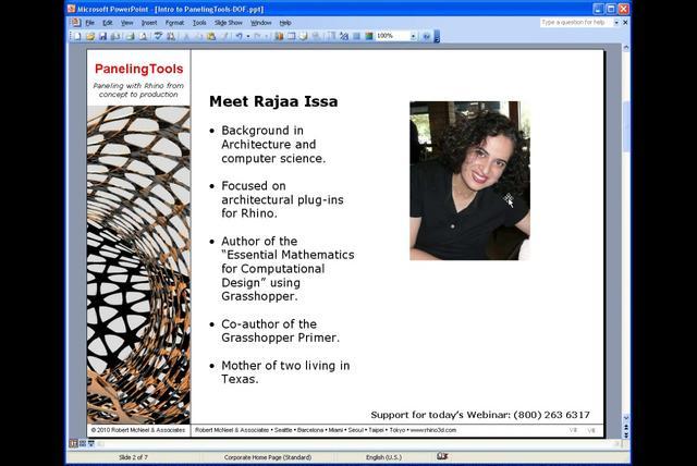 Paneling Tools webinar: University of Florida 1 of 3