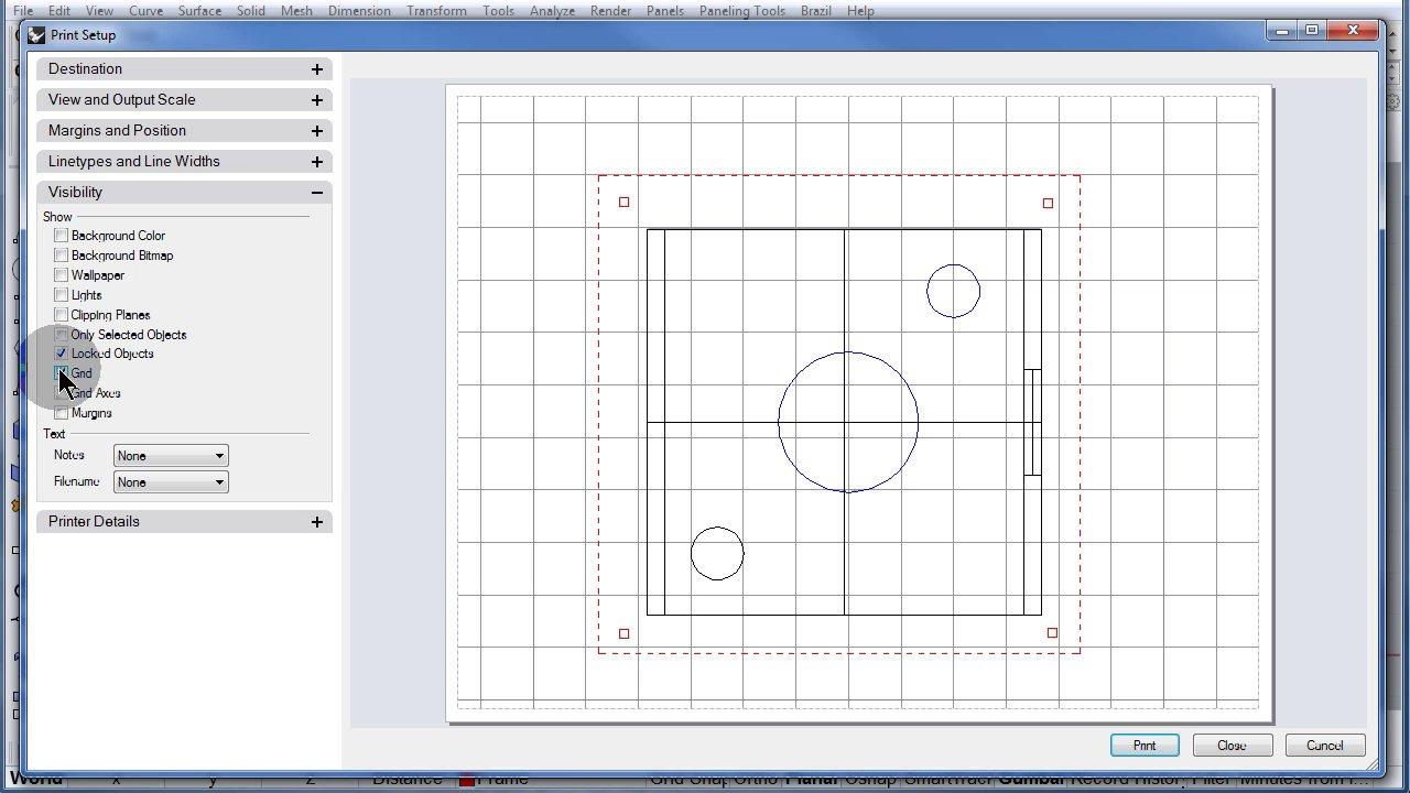 Rhino Visual Tips 5.0: Chapter 17: Layout-Print: Visibility