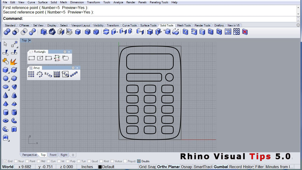 Rhino Visual Tips 5.0: Chapter 3: Curves: Rectangles