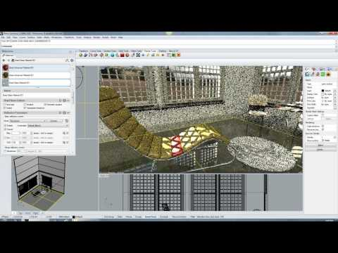 Furniture demo (Neon plugin for Rhino 5 and Caustic R2500 PC board)