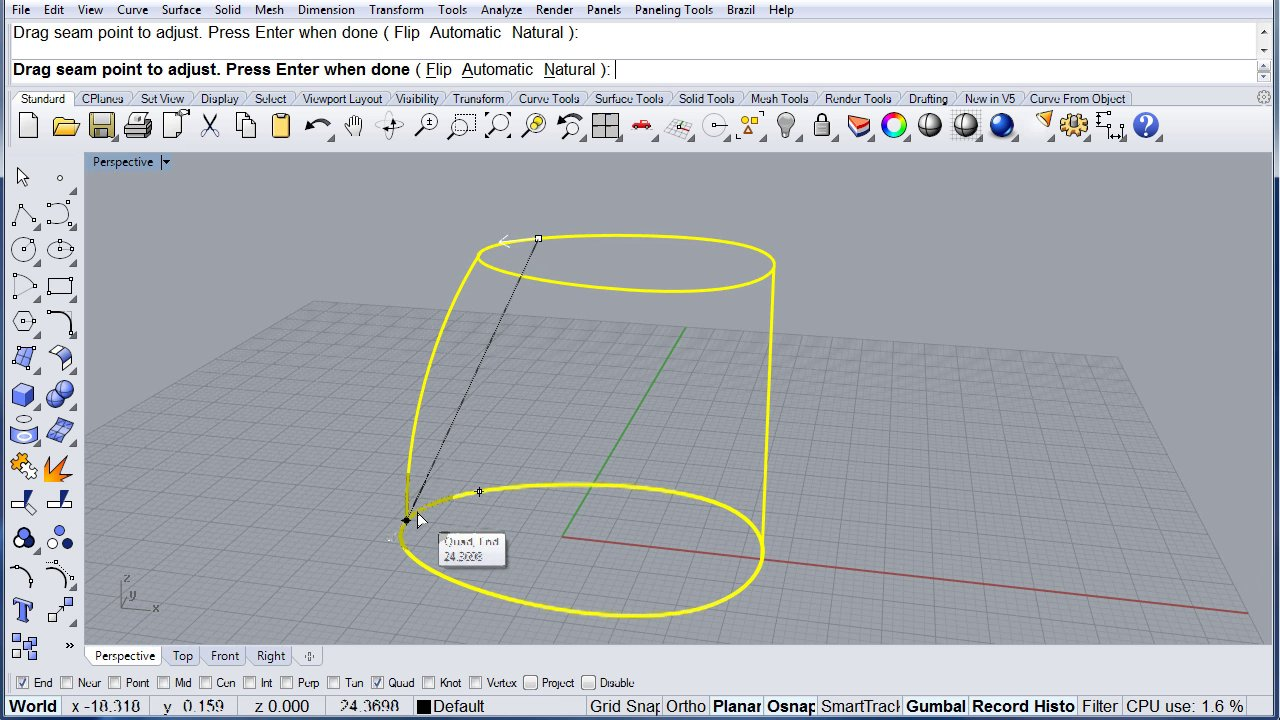 Rhino Visual Tips 5.0: Chapter 15: Curves from objects: Contour