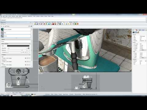 Espresso machine demo (Neon plugin for Rhino 5 and Caustic R2500 PC board)